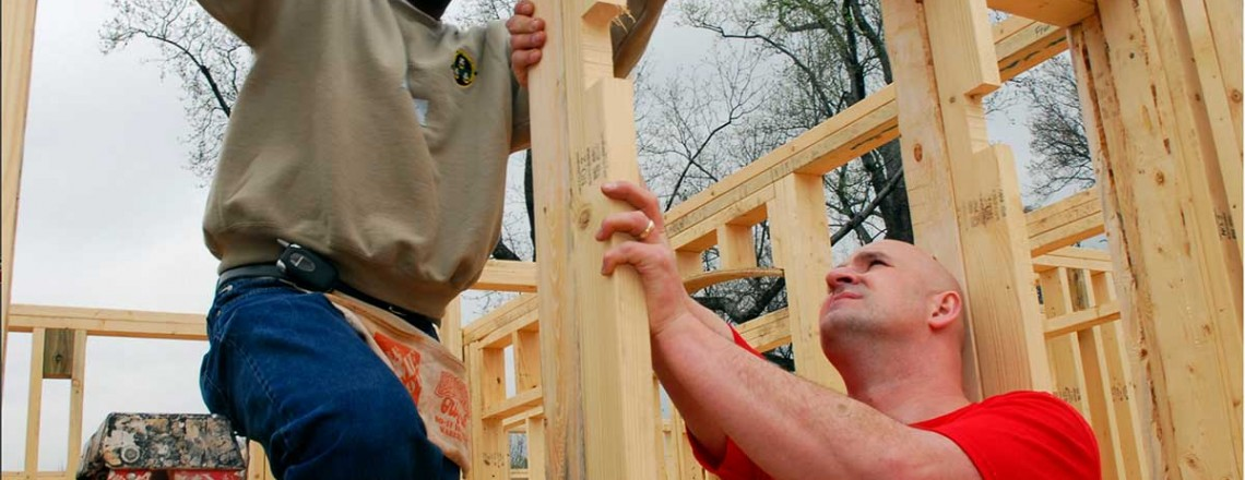Bygga nytt hus kräver hjärta och själ